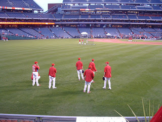 Leave the BP socializing to the pitchers.  There is work to be done!