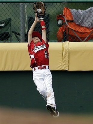 A great catch might have been easier if he went back on the ball a little better.