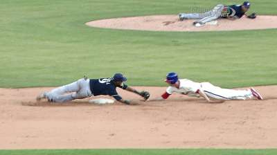 Even though the SS dropped the ball on this play, a runner needs to make sure it isn't even close.