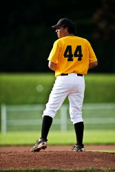 I throw 93 but maybe I should trick him with a change-up.  Or maybe I'll try my knuckleball ...