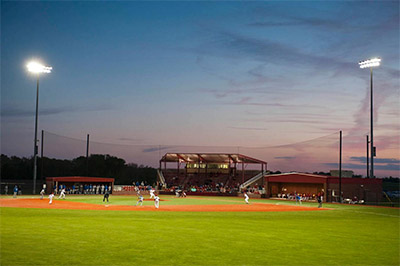 Twilight baseball. A beautiful yet challenging sky for players.